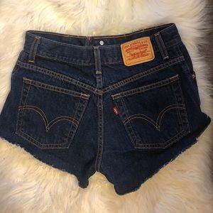 Levi's vintage dark high waist cutoff shorts